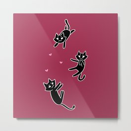 cat gang Metal Print
