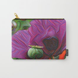 DeepDream Flowers, Poppy, DeepDream style Carry-All Pouch