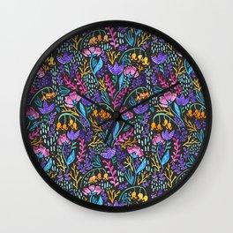 Wonderland Flower Pattern Wall Clock