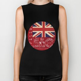Union Jack Great Britain Flag Biker Tank