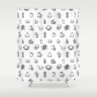 fruits Shower Curtains featuring Fruits by Tyhe Reading
