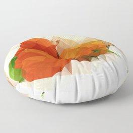 Physalis with Pumpkin Floor Pillow