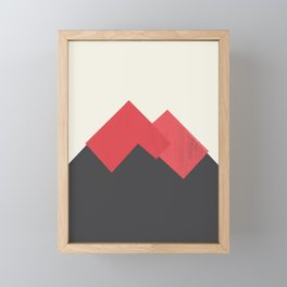 Volcano Pastel Mountains II Framed Mini Art Print