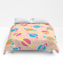 Space Planets Pattern in Pink Comforters