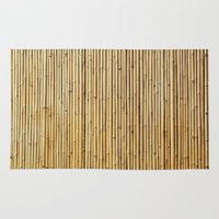 bamboo Area & Throw Rugs featuring Bamboo by Patterns and Textures