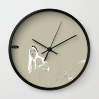 dolly parton Wall Clocks featuring Dolly by Daniel Cisneros
