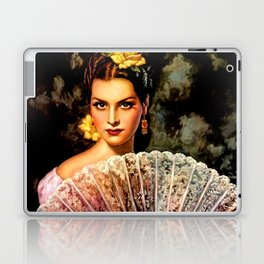 Jesus Helguera Painting of Spanish Beauty with Lacey Fan Laptop & iPad Skin