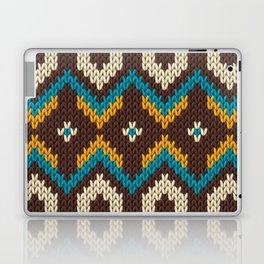 Modern knitted fair isle ethnic style Laptop & iPad Skin
