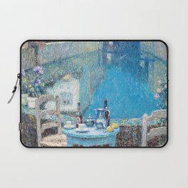 Henri Le Sidaner - Small Table in Evening Dusk (new color editing) Laptop Sleeve