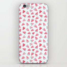 Watermelon watercolor pattern iPhone Skin