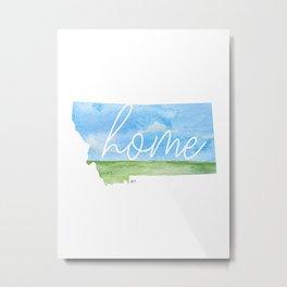 Montana Home State Metal Print