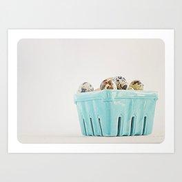 Mi cesta turquesa. Art Print