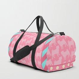 Pastel Pink Pugs Pattern Duffle Bag