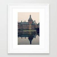 castle Framed Art Prints featuring Castle by DuniStudioDesign