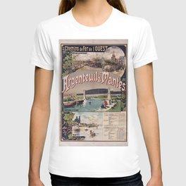 Chemins de fer de l'Ouest. Argenteuil à Mantes, 1893, dessin de Fraipont, Gustave T-shirt