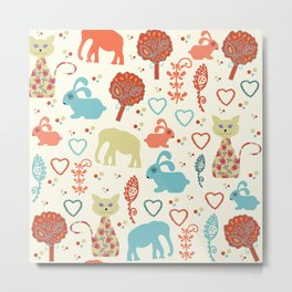 Elephants pattern #5 Metal Print