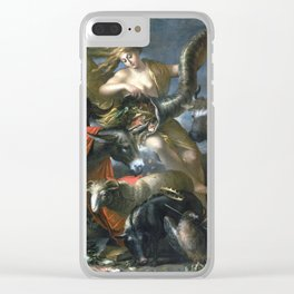 Salvator Rosa Allegory of Fortune Clear iPhone Case