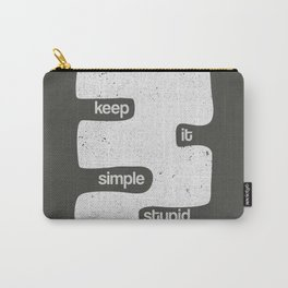 Kiss - Keep it simple stupid - Black and White Carry-All Pouch