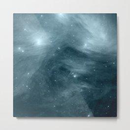 Galaxy : Pleiades Star Cluster NeBula Steel Blue Metal Print