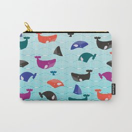 Whale Yes! Waves Carry-All Pouch