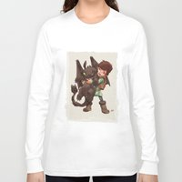 hiccup Long Sleeve T-shirts featuring Hiccup & Toothless - Childhood  by David Tako
