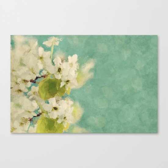 Dream of spring - Apple Blossom Appleblossoms  Flower Floral Canvas Print