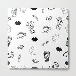 Coffee and Cupcakes Metal Print