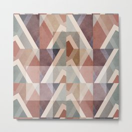 Textured Geometric Abstract Metal Print