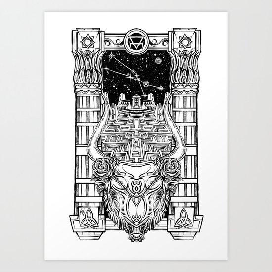 Minotaur's Labyrinth Art Print