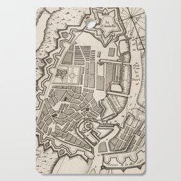 Vintage Map of Copenhagen Denmark (1764) Cutting Board