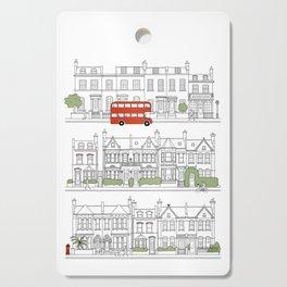 London houses Cutting Board