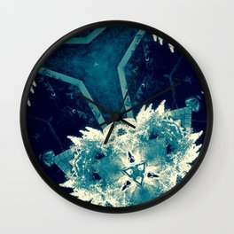 All About Blue Wall Clock