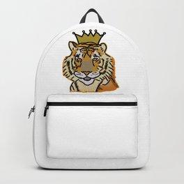 Tiger wearing Crown Digital Painting Backpack
