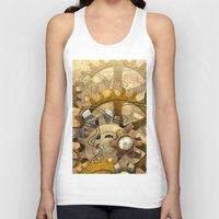 steampunk Tank Tops featuring steampunk by Ancello