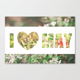 I love may! Canvas Print