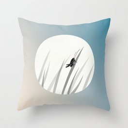 Crickets Chirp Around the Door Throw Pillow