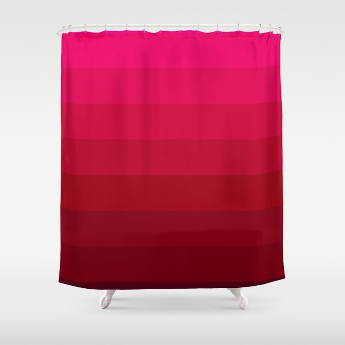 Pink And Red Stripes Shower Curtain By Colorpopdesign