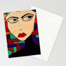 Portrait of a Persuasive Girl Stationery Cards
