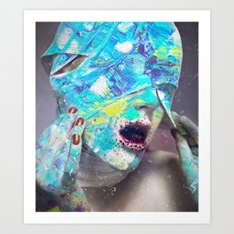 Broken mirrors Art Print