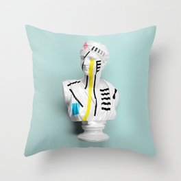 The Geometry of the Viewer Throw Pillow