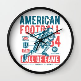 1984 American Football Hall Of Fame College Football Player Wall Clock