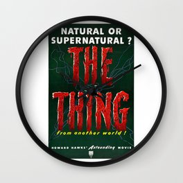 The Thing, Vintage Horror Movie Poster Wall Clock