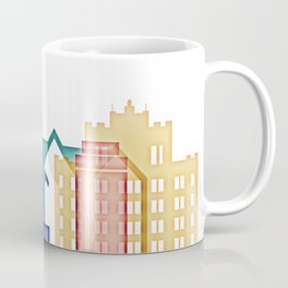 San Jose colorful skyline design Coffee Mug