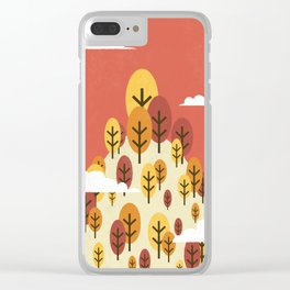 Goodbye Summer, Hello Fall Clear iPhone Case