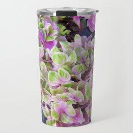 Pink & Green Hydrangea Travel Mug