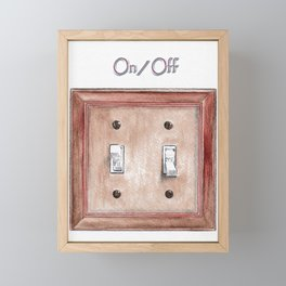 Switch Plate Framed Mini Art Print