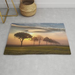 Big sky and clouds on a picture perfect night Rug