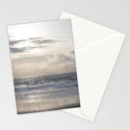 Silver Scene ~ Ocean Ripple Effect Stationery Cards