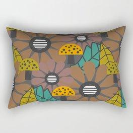 Autumn flowers, leaves and mushrooms Rectangular Pillow