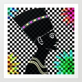 Queen Nefertiti Punk Star of the Nile Art Print
